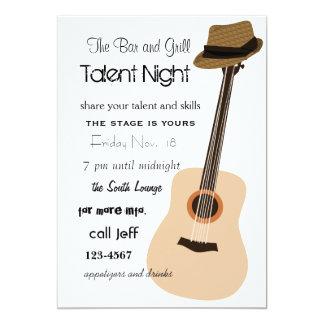 Noite da guitarra convite 12.7 x 17.78cm