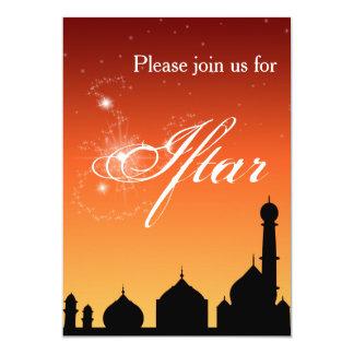 Noite da silhueta da mesquita - convite de festas