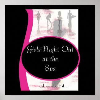 Noite das meninas para fora, o theSpa de Outat da  Posters