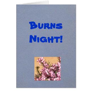 Noite das queimaduras! Cartão