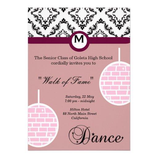 Noite de baile de formatura convites personalizados