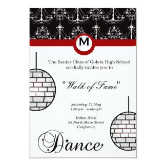 Noite de baile de formatura convite 12.7 x 17.78cm