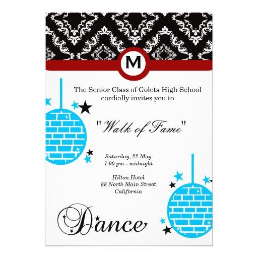 Noite de baile de formatura convite