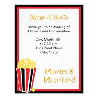 Noite de cinema convites personalizado