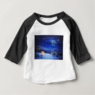 Noite de Natal Camiseta Para Bebê