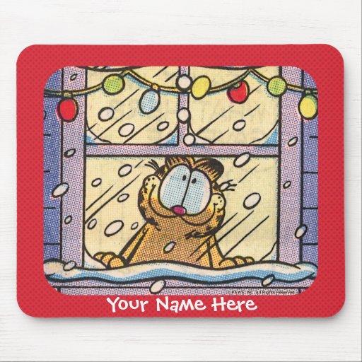 Noite de Natal Mousepad de Garfield