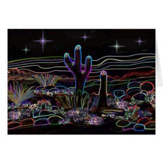 Noite de néon de Stary do deserto Cartão De Nota