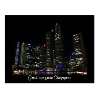 noite de singapore cartões postais