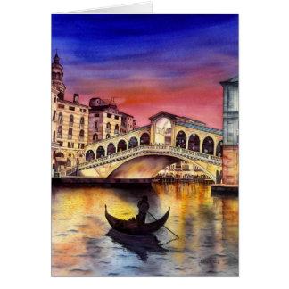 Noite de Veneza Cartão Comemorativo