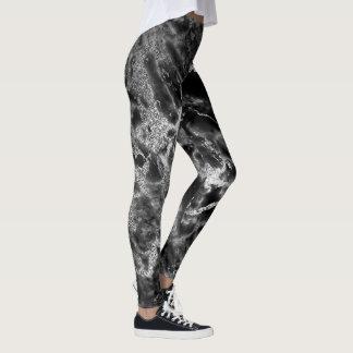 Noite derretida do abstrato cinzento preto de leggings