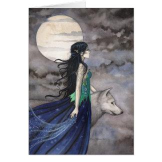 Noite do cartão do lobo