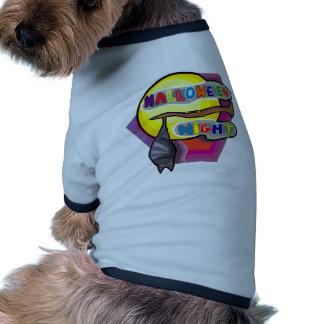 Noite do Dia das Bruxas Camisa Ringer Para Cachorro