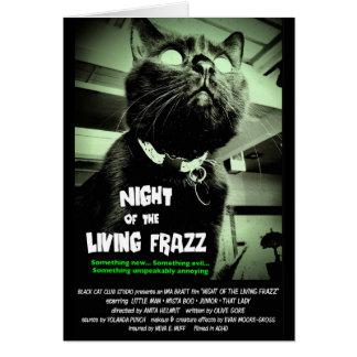 """""""Noite do Frazz vivo!"""" Cartão de nota do gato do"""