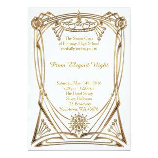 Noite elegante do baile de formatura convite 12.7 x 17.78cm