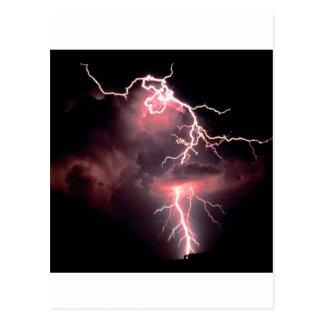 Noite elétrica do céu cartão postal