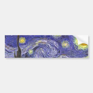 Noite estrelado de Van Gogh, arte da paisagem do Adesivo Para Carro