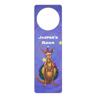 Noite estrelado do Natal do canguru Sinais Para Porta