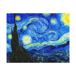 Noite estrelado pelo impressão das canvas de belas