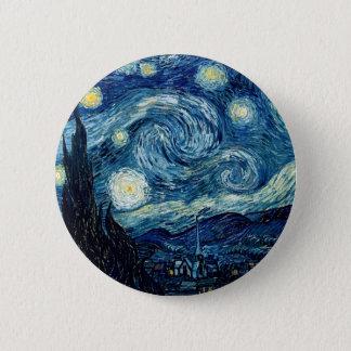 Noite estrelado por Vincent van Gogh Bóton Redondo 5.08cm