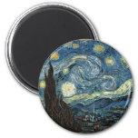 Noite estrelado por Vincent van Gogh Imãs De Refrigerador
