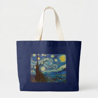 Noite estrelado por Vincent van Gogh Sacola Tote Jumbo