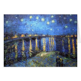 Noite estrelado: Van Gogh Cartão Comemorativo