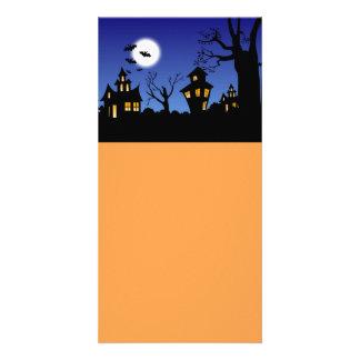 Noite feliz do Dia das Bruxas Cartão Com Foto