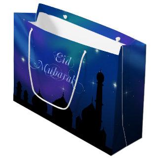 Noite mágica de Eid - grande saco do presente Sacola Para Presentes Grande