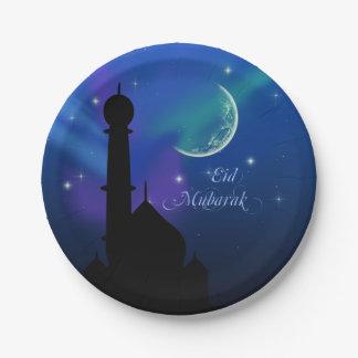 Noite mágica de Eid - placa de papel do Prato De Papel