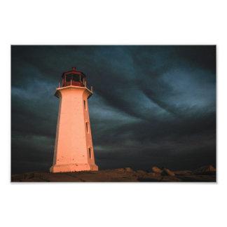 Noite misteriosa na angra de Peggy, Nova Escócia,  Impressão Fotográficas