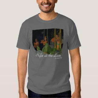 Noite na camisa de Luau Camiseta