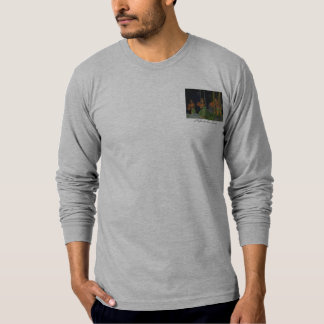 Noite na camisa de Luau T-shirts