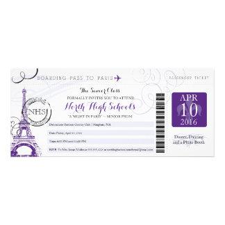 Noite no baile de formatura da escola de Paris Convites Personalizado