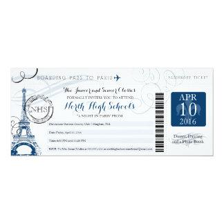Noite no baile de formatura da escola de Paris Convite 10.16 X 23.49cm