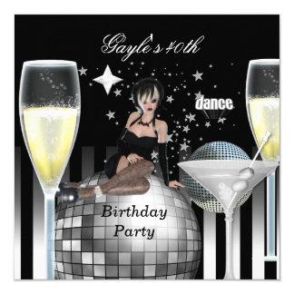 Noite para fora Champagne dos partys girl do Convite Quadrado 13.35 X 13.35cm