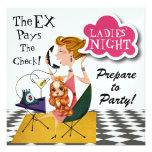 Noite para fora - SRF das senhoras Convite Personalizado