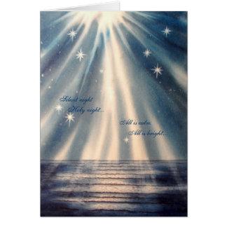 """""""Noite silenciosa, cartão de Natal da noite"""