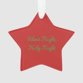 """""""Noite silenciosa, enfeites de natal da noite"""