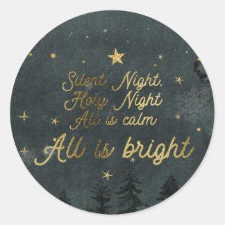 Noite silenciosa, etiqueta santamente da noite