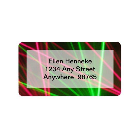 Noites da dança e luzes 2 do disco etiqueta de endereço