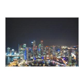 Noites de Singapore Impressão Em Canvas