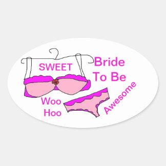 Noiva a ser etiquetas ovais adesivo oval