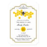 Noiva ao chá de panela da abelha convite 12.7 x 17.78cm