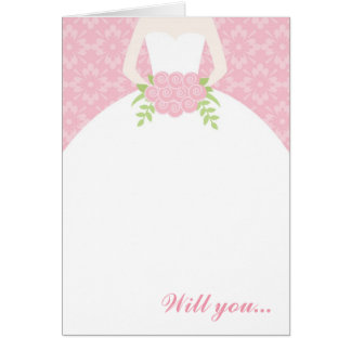 Noiva bonita - cartão