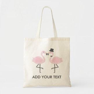 Noiva bonito do flamingo & o bolsa feito sob