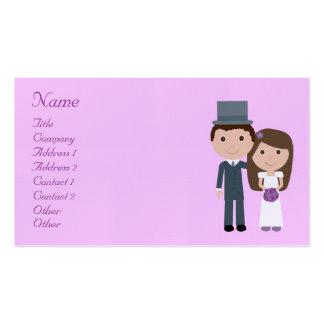 Noiva bonito dos desenhos animados & planejador do cartão de visita