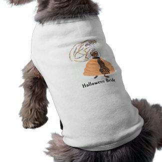Noiva/casamento do Dia das Bruxas Camisa Sem Mangas Para Cachorro