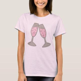 NOIVA Champagne borbulhante da EQUIPE que Wedding Camiseta
