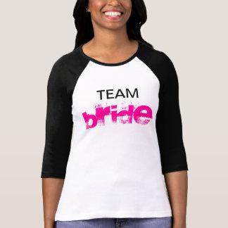 Noiva da equipe camiseta