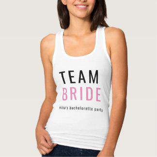 Noiva da equipe da camisa de Tanktop T da festa de